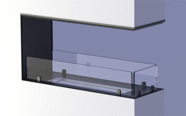 Biocamino per pareti divisorie ideato da Car-z-met.
