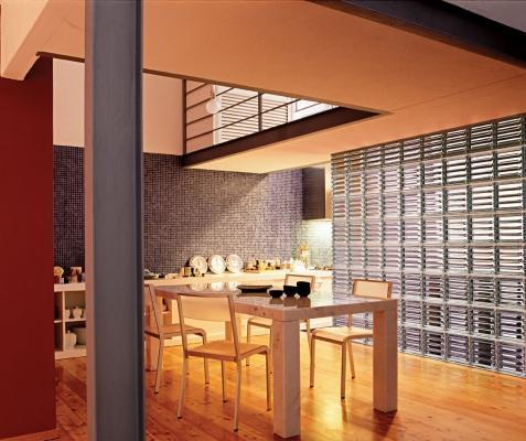 Mattone di vetro Doric installato in cucina