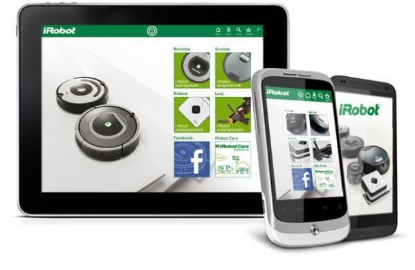 App iRobot per controllo elettrodomestici
