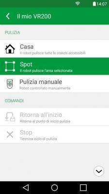 Vorwerk Folletto Robot App modalità di pulizia
