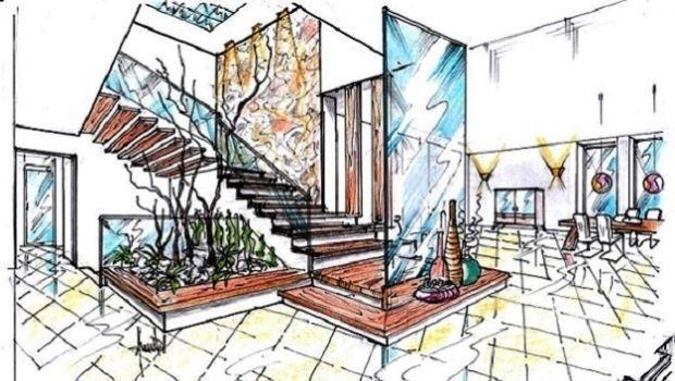 Soluzione progettuale per una scala interna in legno e vetro