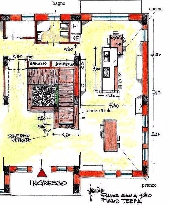 Disegni di scale interne immagini scale interne ringhiere - Disegno pianta casa ...