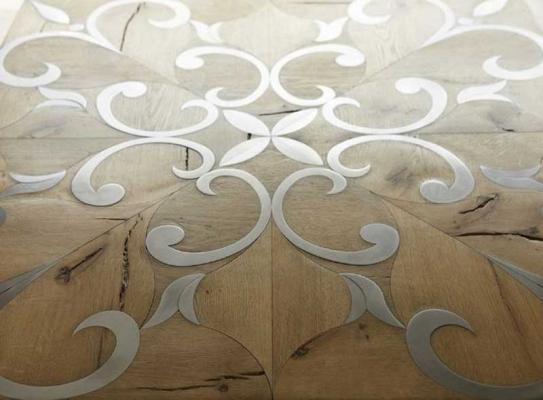 Pavimenti con inserti di acciaio by Parchettificio Toscano