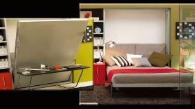 Più spazio in camera con il letto matrimoniale a scomparsa