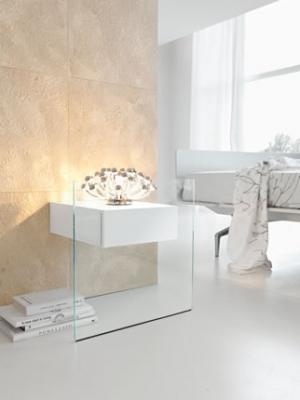 Comodino in vetro Do-Mo di Tonello Design