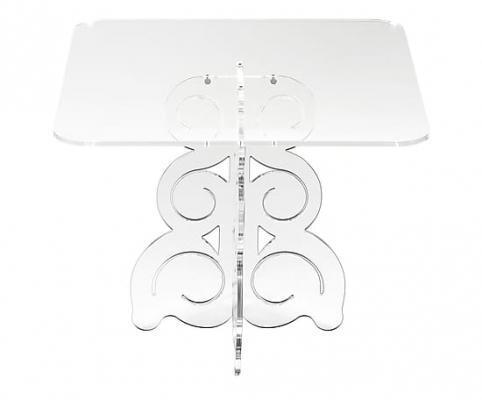 Tavolino quadrato in metacrilato Baricco trasparente, dimensioni 50x41x50 cm su Dalani