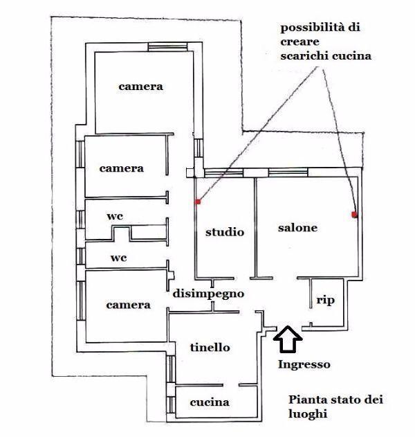 Appartamento 150 mq idea di progetto - Planimetria casa 120 mq ...