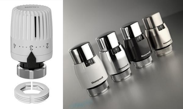 Alcuni modelli di valvole termostatiche, di LMC.