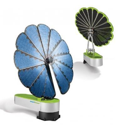 Accumulatore fotovoltaico fronte-retro Smartflower SF32