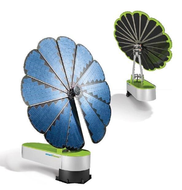 Accumulatore fotovoltaico fronte-retro Smartflower SF32