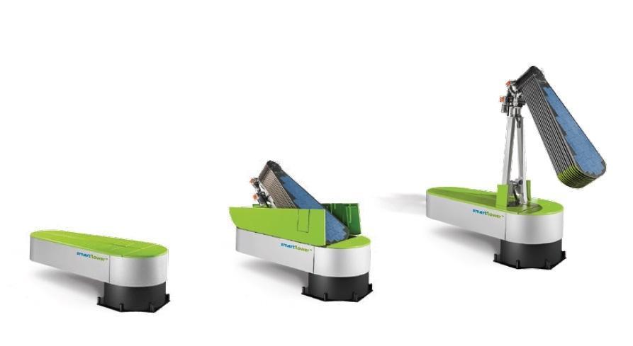 Funzionamento accumulatore fotovoltaico Smartflower SF32