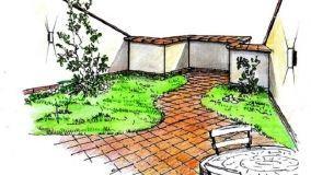 Giardino pensile sul terrazzo
