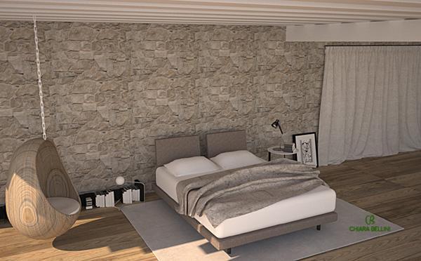 Ristrutturazione di un casale in campagna: la camera da letto