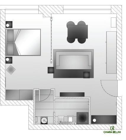 Progettazione di un mini appartamento for Grandi planimetrie dell appartamento