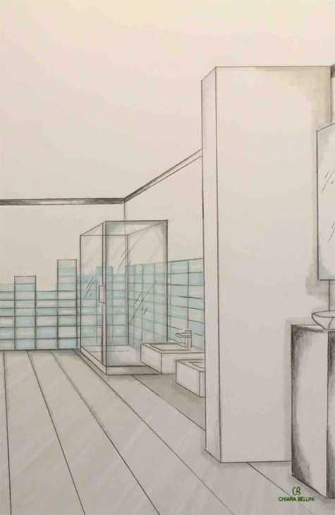 Ristrutturazione miniappartamento, prospettiva bagno