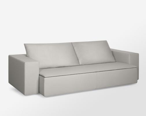 Ristrutturazione miniappartamento: divano Armani, modello grembo