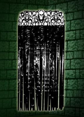 Tenda macabra in total black per Halloween su Amazon