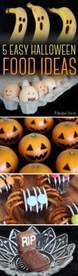 Decorazioni per Halloween con il cibo di adesignerlife.net