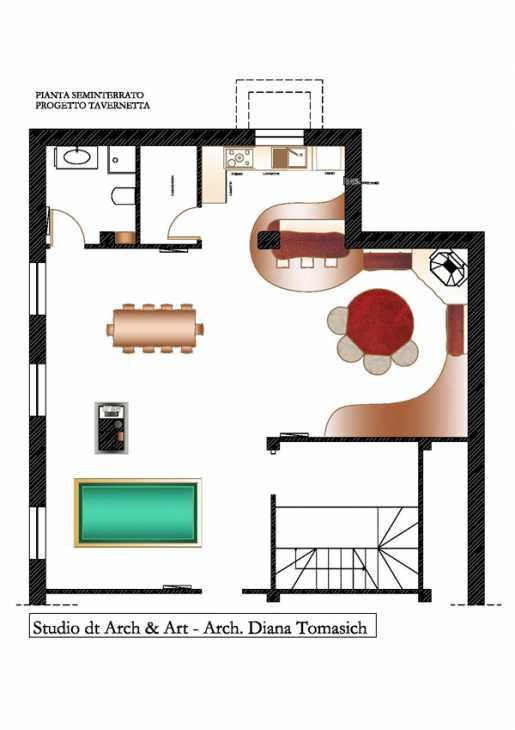 Progetto tavernetta pianta- Studio dt Arch & Art