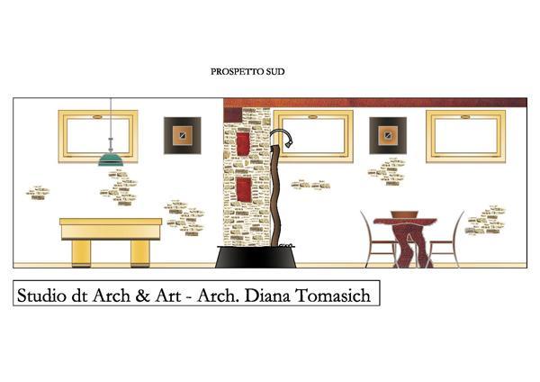 Progetto tavernetta sezione sud- Studio dt Arch & Art