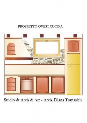 Dettaglio cucina , progetto di una tavernetta