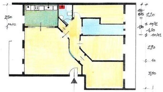 Appartamento 100 mq idea di progetto - Disegno progetto casa ...