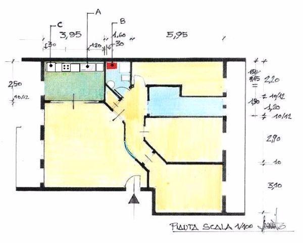 Appartamento 100 mq idea di progetto - Costi al mq per ristrutturare casa ...