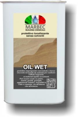 Protettivo per cotto a effetto bagnato Oil Wet di Marbec.