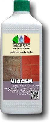 Disincrostante acido Viacem di Marbec per la pulizia a fondo del cotto.