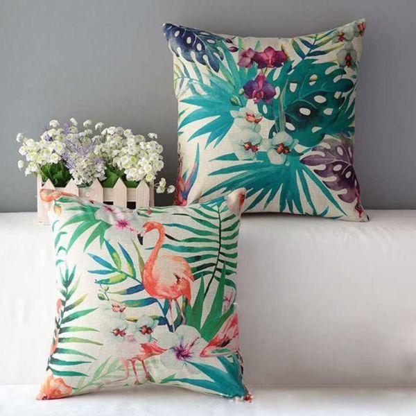 Arredare con uno stile boho chic: Cuscini fantasia foglie, fiori, animali su Aliexpress