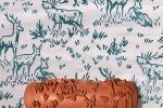 Rullo decorativo motivo a cervi di Cri-lla