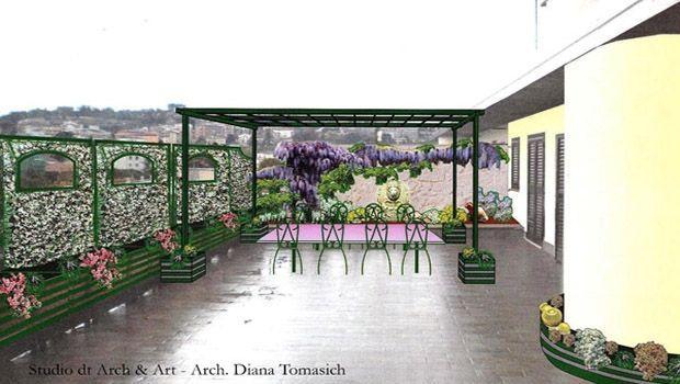 Sistemare il terrazzo di un appartamento in città: il progetto