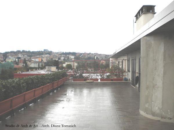 Sistemazione terrazzo - esistente
