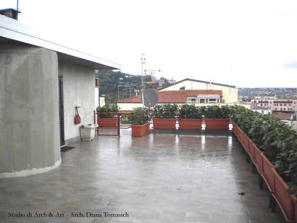 Sistemazione terrazzo - stato di fatto