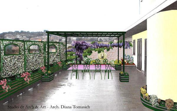 Sistemazione terrazzo - Progettazione
