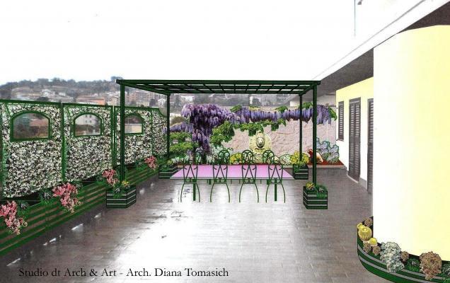 Sistemazione terrazzo - idea di Progetto