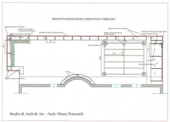Sistemazione terrazzo - Progetto pianta