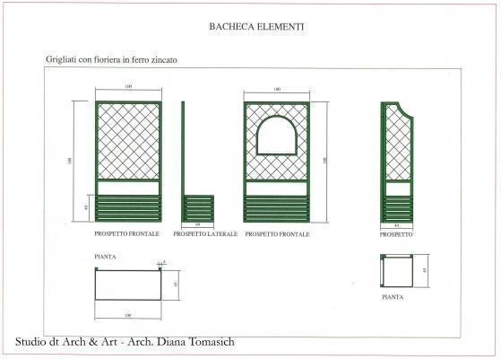 Sistemazione terrazzo - Progetto grigliati dettaglio