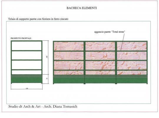 Sistemazione terrazzo - Progetto parete