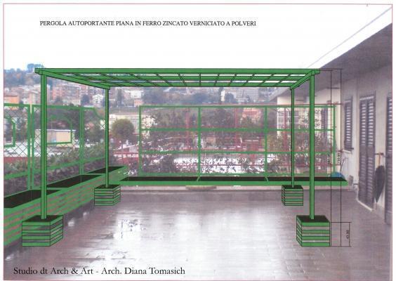 Sistemazione terrazzo - Progetto pergola