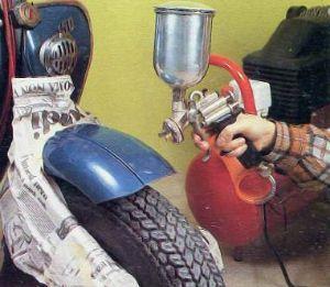 Verniciatura con il compressore