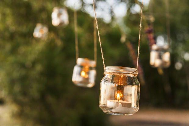 Portacandele Da Giardino : Porta candele fai da te