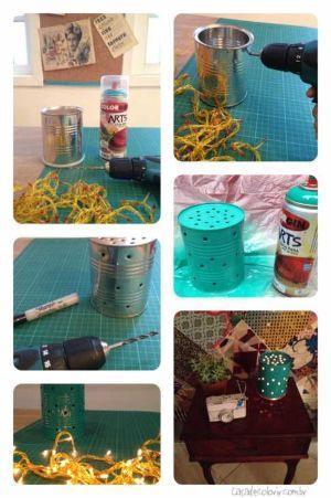 Portacandele fai da te in latta tutorial su Casadecolorir.com.