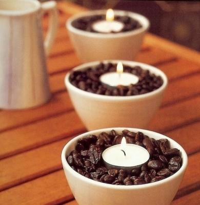 Portacandele con chicchi di caffè di Mecraftsman.com