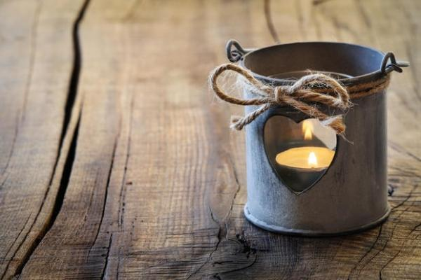 Contenitori di latta porta candele fai da te