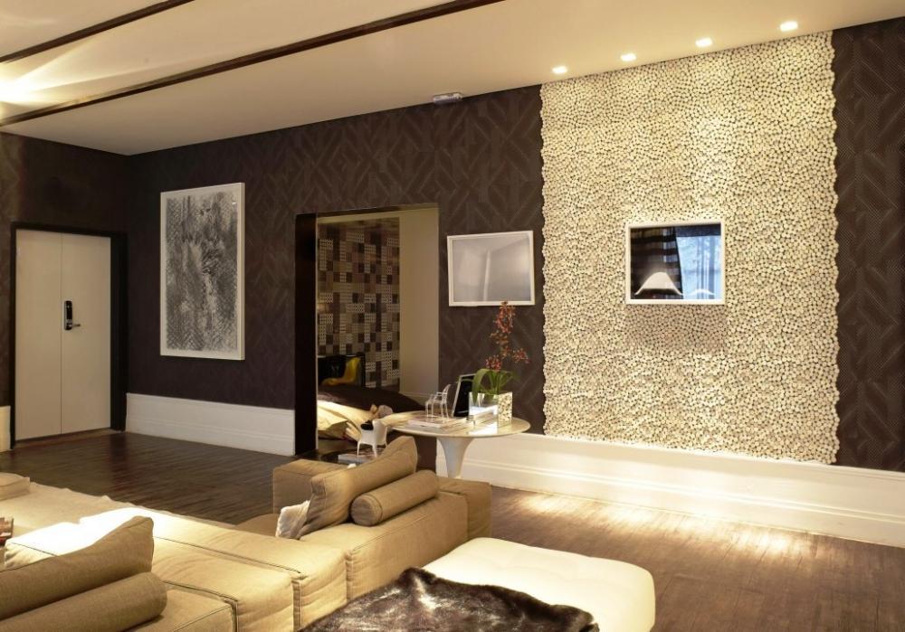 Foto - Parete decorativa salotto