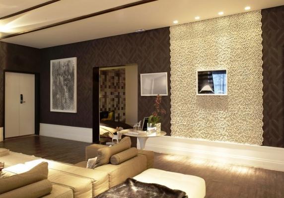 Parete decorativa salotto for Rivestimento parete salotto