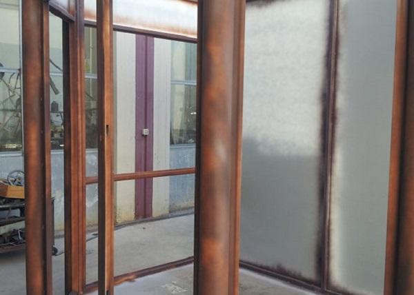 Porte effetto Corten: Molteni, Materico Corten all'esterno