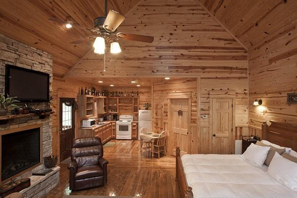 Arredo moderno di una casa in montagna