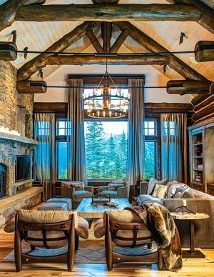 Arredo luxury di casa in montagna